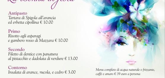 menu festa donna